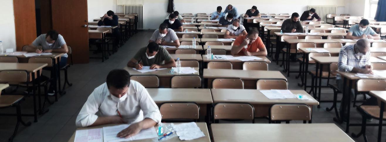 Görevde Yükselme Yazılı Sınavı Covid-19 Tedbirleri Çerçevesinde Gerçekleştirildi