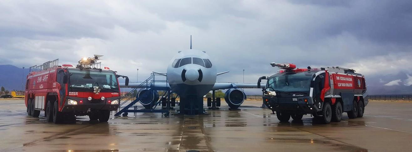 Uçak Yangin Si̇mülatörü Bakım Çalışması Yapıldı