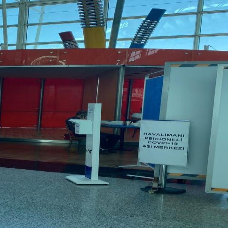 İzmir Adnan Menderes Havalimanı Covid-19 ile mücadele