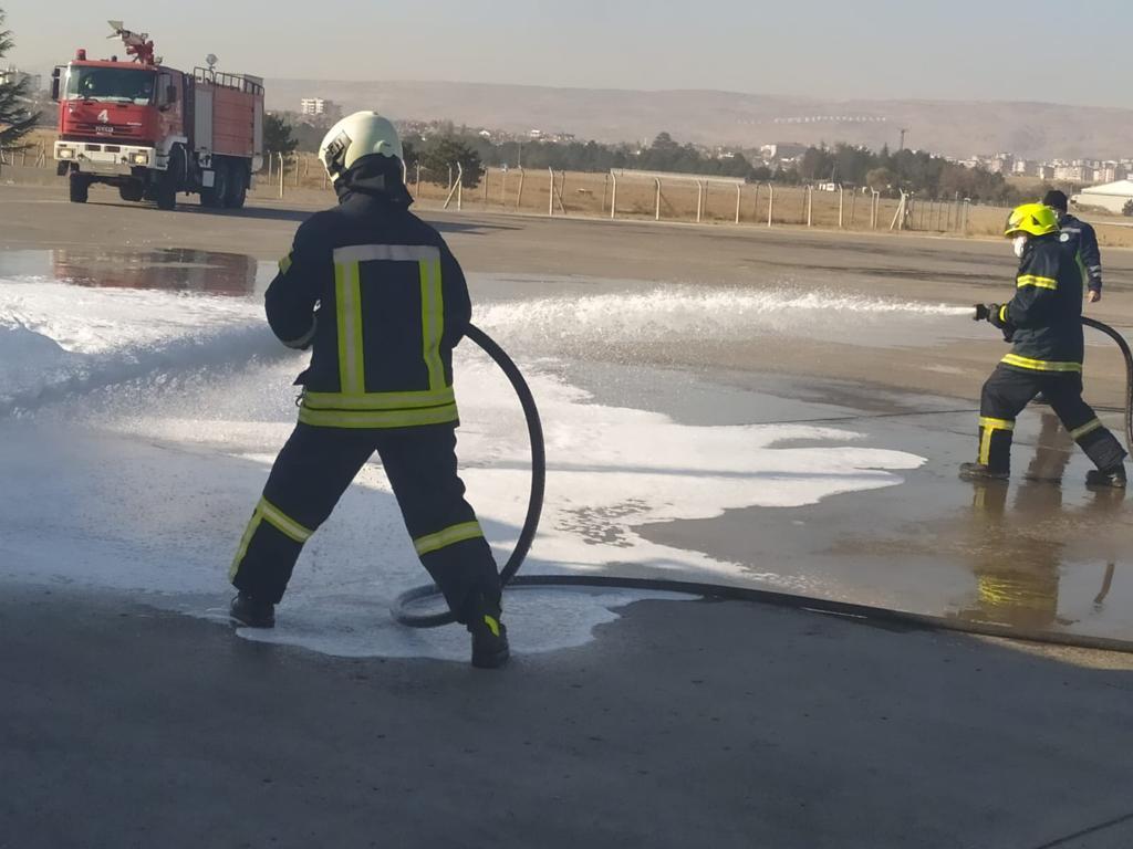 Kayseri Havalimanı Acil Durum Planı Tatbikatı